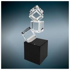 Triple Crystal Blocks on a Black Base